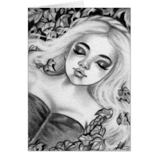 Sleeping Princess Fairytale Fantasy Card