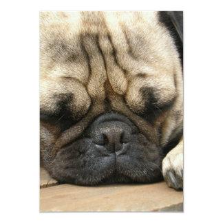 Sleeping Pug Invitation