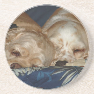Sleeping Puppies Beverage Coasters