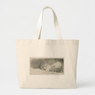 Sleeping puppy by Rembrandt Jumbo Tote Bag