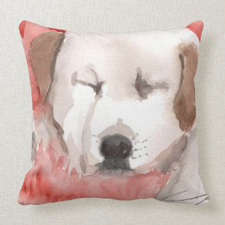 sleeping-puppy cotton throw pillow throw cushions