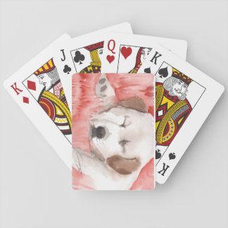 sleeping-puppy playing cards