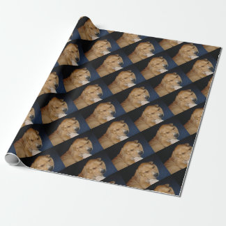 Sleeping puppy wrapping paper
