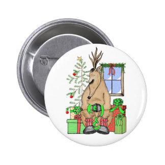 Sleeping Reindeer Button