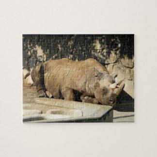 Sleeping Rhino Jigsaw Puzzle