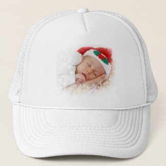 Sleeping Santa Baby Trucker Hat