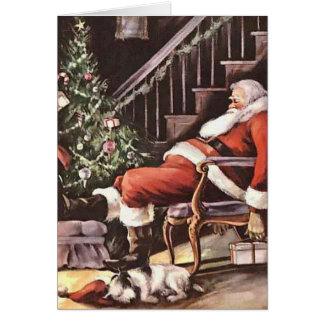 Sleeping Santa Card