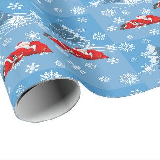 Sleeping Santa Wrapping Paper