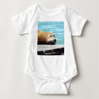 SLEEPING SEA LION BABY BODYSUIT