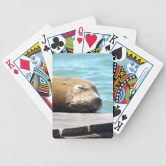 SLEEPING SEA LION BICYCLE PLAYING CARDS