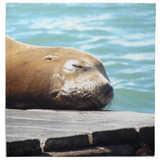 SLEEPING SEA LION NAPKIN