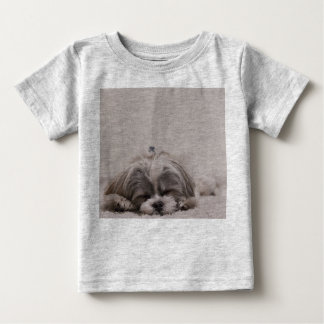 Sleeping Shih tzu Baby Shirt, Sleeping Dog Baby T-Shirt