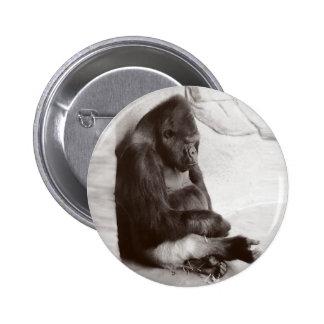 Sleeping Silverback 6 Cm Round Badge