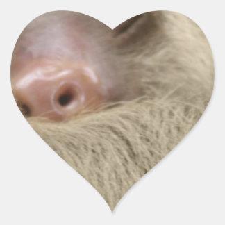 sleeping sloth heart sticker