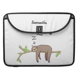 Sleeping sloth sleeve for MacBooks