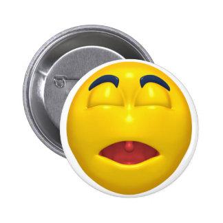 Sleeping Smiley 6 Cm Round Badge