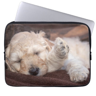 Sleeping Standard Poodle puppy Laptop Sleeve
