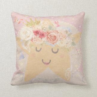 Sleeping Star Boho Butterfly Baby Nursery Pillow