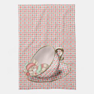 Sleeping Tea Cup Mouse Towel