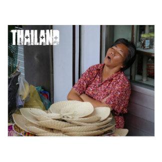 Sleeping Thai Woman Postcard