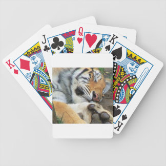Sleeping Tiger Bicycle Playing Cards