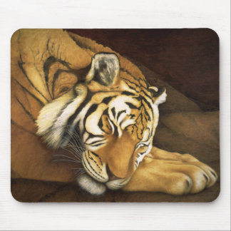 sleeping tiger mouse pad