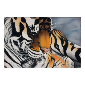 Sleeping Tiger Posters