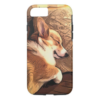 Sleeping Tricolor Welsh Corgi iPhone 8/7 Case
