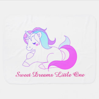 Sleeping Unicorn Baby Blanket