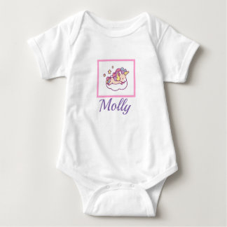 Sleeping Unicorn NAME Kawaii Onsie Sleeper Baby Bodysuit