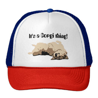 Sleeping Welsh Corgi Cap
