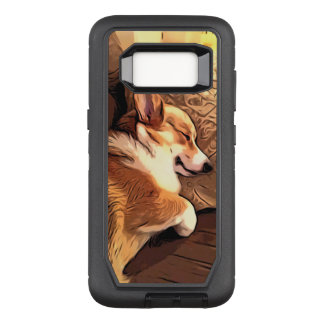 Sleeping Welsh Corgi OtterBox Defender Samsung Galaxy S8 Case