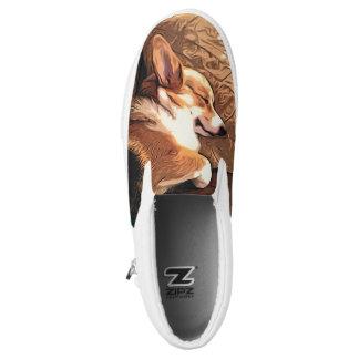Sleeping Welsh Corgi Slip On Shoes