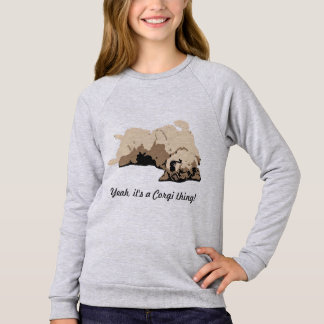Sleeping Welsh Corgi Sweatshirt