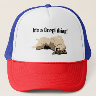 Sleeping Welsh Corgi Trucker Hat