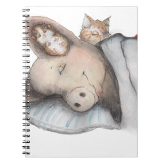 Sleeping with Friends Spiral Notebooks
