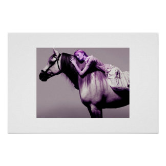 sleeping with horse poster