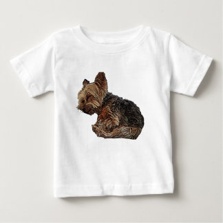 Sleeping Yorkie Baby T-Shirt