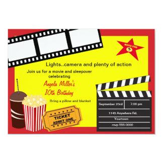 Sleepover and Movie Night Birthday Card