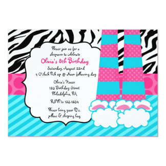 Sleepover Birthday Invitation
