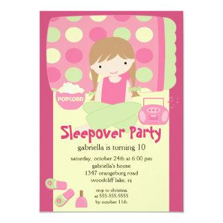 Sleepover Birthday Party Inviation 13 Cm X 18 Cm Invitation Card
