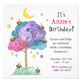 Sleepover, Birthday Party Invitation