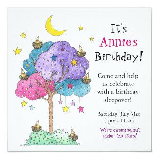 Sleepover, Birthday Party Invitation