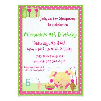 Sleepover Blonde 13 Cm X 18 Cm Invitation Card