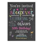 Sleepover Invitation Slumber Party Pyjamas Girl