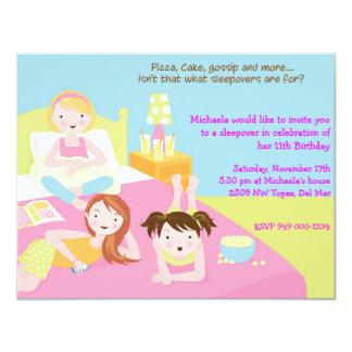 Sleepover Party 11 Cm X 14 Cm Invitation Card