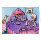 Sleepover Party CARD Cute puppies and dogs