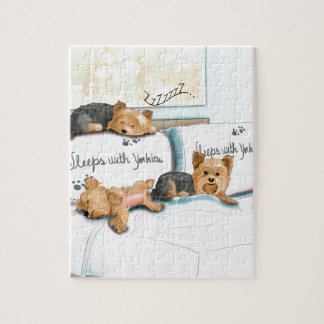 Sleeps with Yorkies by Catia Cho Puzzle