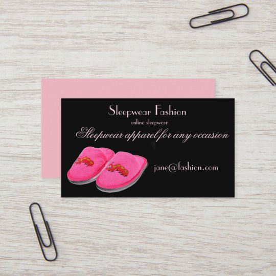 Sleepwear apparel clothing store business card zazzle sleepwear apparel clothing store business card reheart Gallery