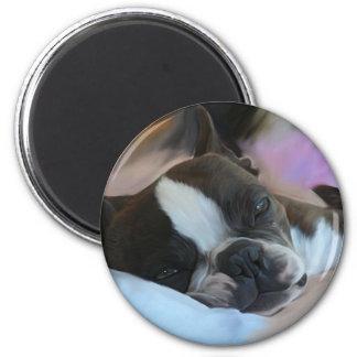 Sleepy 6 Cm Round Magnet